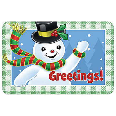 Bungalow Flooring Snowman Greetings 18-Inch x 27-Inch Floor Mat