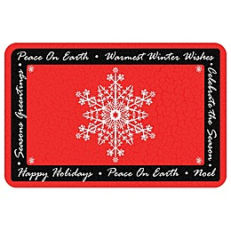 Bungalow Flooring Peace On Earth 18-Inch x 27-Inch Floor Mat