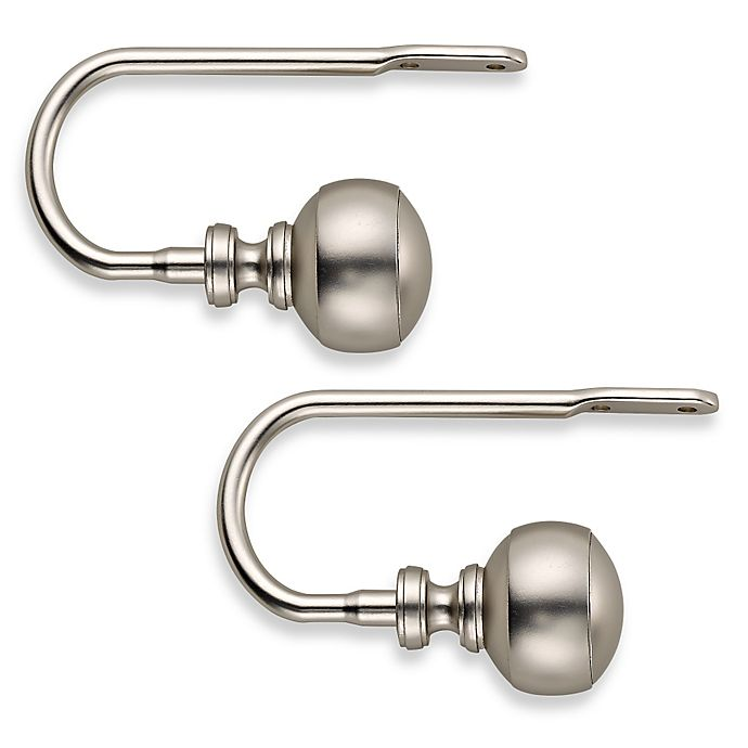 Alternate image 1 for Cambria® Transitions Banded Ball Hold Backs in Brushed Nickel (Set of 2)
