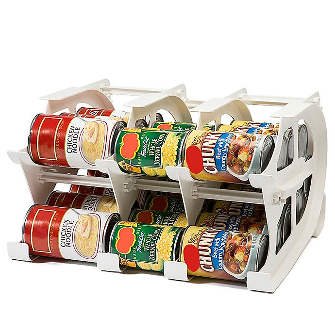 Alternate image 1 for FIFO Mini Can Tracker Food Storage Organizer