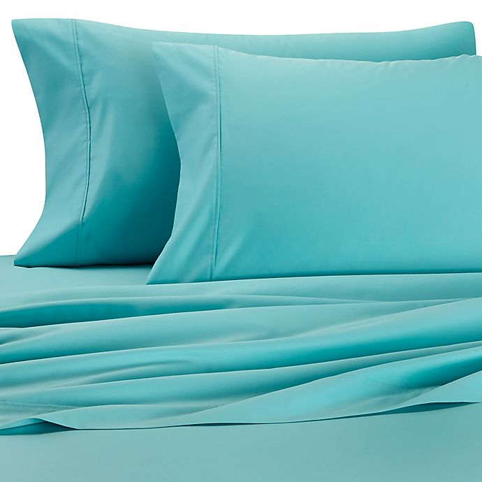 Alternate image 1 for Palais Royale™ 630-Thread-Count Long Staple Cotton Queen Sheet Set in Teal
