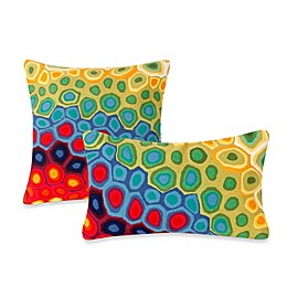 Liora Manne Outdoor Throw Pillow in Pop Swirl Multi