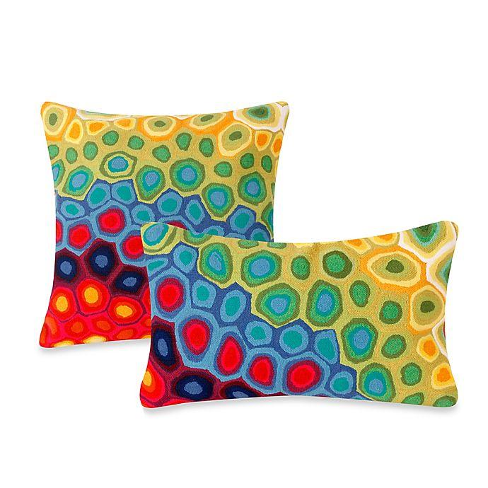Alternate image 1 for Liora Manne Outdoor Throw Pillow in Pop Swirl Multi