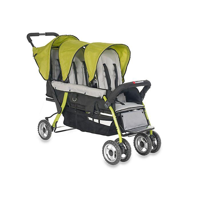 Alternate image 1 for Foundations® Trio Sport™ Splash of Color 3-Passenger Stroller in Lime