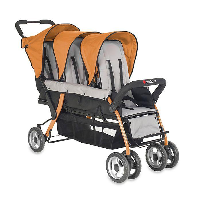 Alternate image 1 for Foundations® Trio Sport™ Splash of Color 3-Passenger Stroller in Orange