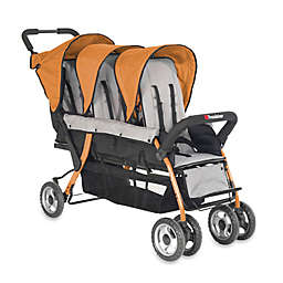 Foundations® Trio Sport™ Splash of Color 3-Passenger Stroller in Orange