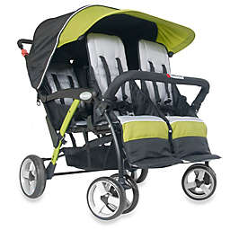 Foundations® Quad Sport™ Splash of Color 4-Passenger Stroller in Lime