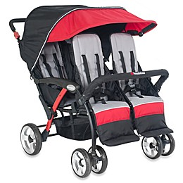 Foundations® Quad Sport™ Splash of Color 4-Passenger Stroller in Red