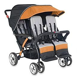 Foundations® Quad Sport™ Splash of Color 4-Passenger Stroller in Orange