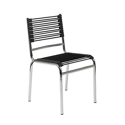 Eurostyle™ Bungie-S Stacking Chairs in Black/Chrome (Set of 4)