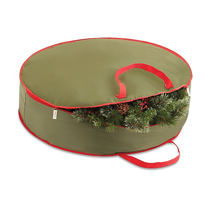alternate image 1 for real simple 36 inch holiday wreath storage bag