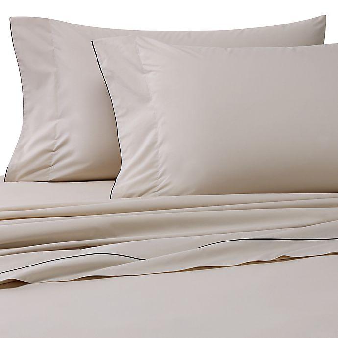 Alternate image 1 for Bellora® Corvina Standard Pillowcases in Taupe/Black (Set of 2)