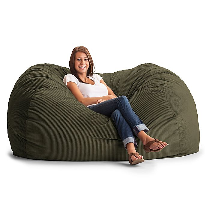 Comfort Research Xl Wide Wale Corduroy Lounge Bean Bag Chair Bed