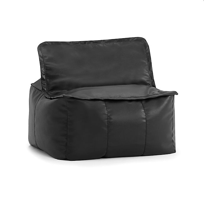 Superb Comfort Research Big Joe Lux Zip It Faux Leather Square Caraccident5 Cool Chair Designs And Ideas Caraccident5Info