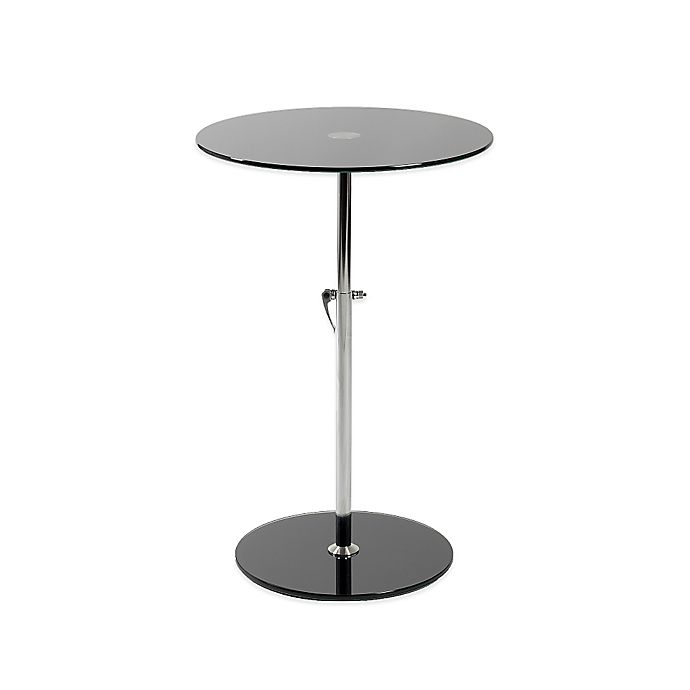 Alternate image 1 for Eurostyle™ Radinka Side Table in Printed Glass/Stainless Steel