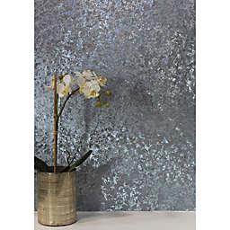 Arthouse Velvet Crush Foil Textured Wallpaper in Blue
