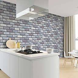 Arthouse Industrial Brick Wallpaper in Grey