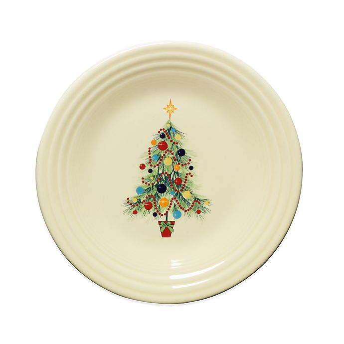 Alternate image 1 for Fiesta® Christmas Tree Luncheon Plate in Ivory