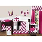 Sweet Jojo Designs Chevron 11-Piece Crib Bedding Set in Pink and White