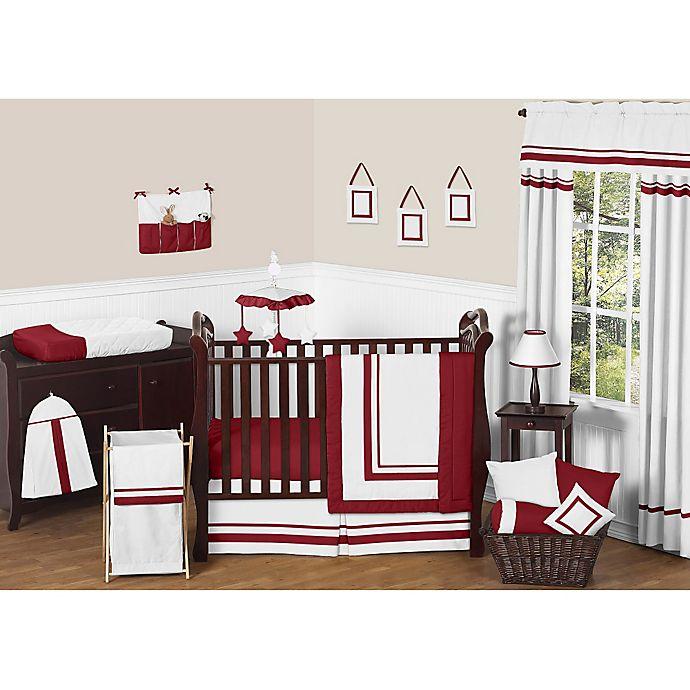 Alternate image 1 for Sweet Jojo Designs Hotel 11-Piece Crib Bedding Set in White/Red