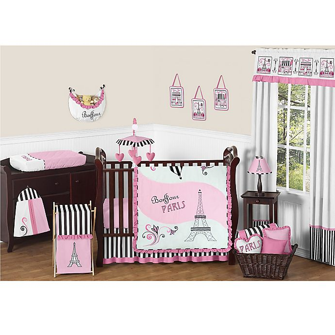 Alternate image 1 for Sweet Jojo Designs Paris 11-Piece Crib Bedding Set
