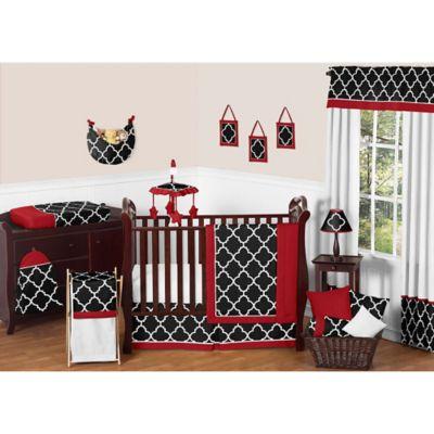Black Crib Bedding Clothing, Red And Black Damask Crib Bedding