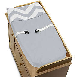 Sweet Jojo Designs Chevron Changing Pad Cover in Grey/White