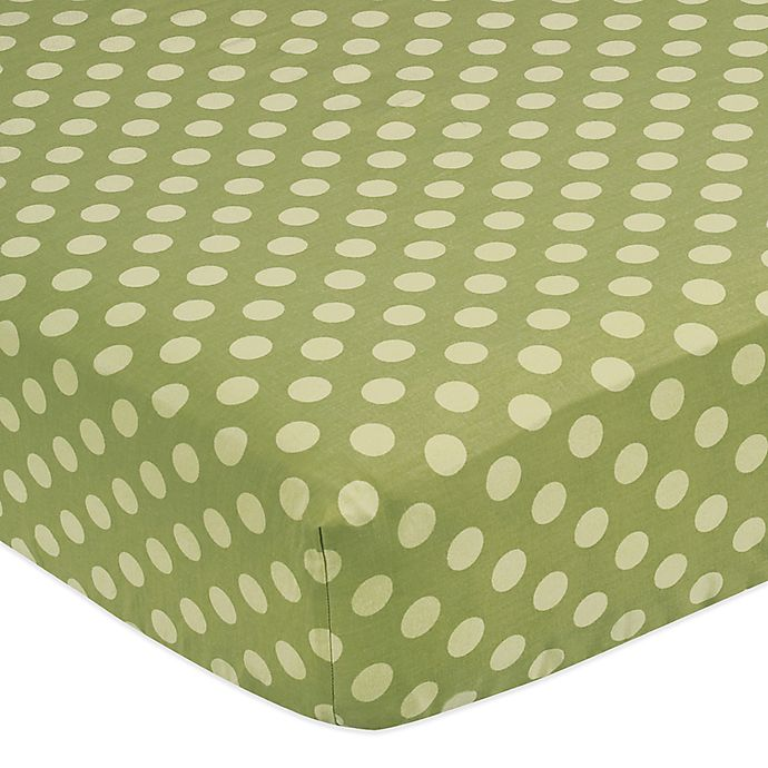Alternate image 1 for Sweet Jojo Designs Turtle Fitted Crib Sheet in Green Dot