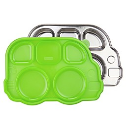 Innobaby Din Din Smart™ Stainless Bus Platter with Green Lid