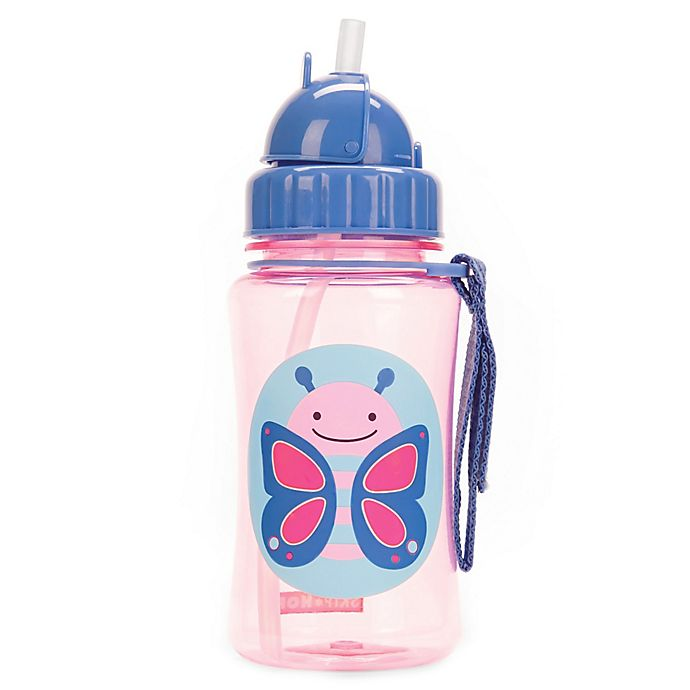 Alternate image 1 for SKIP*HOP® Zoo 12 oz. Butterfly Straw Bottle