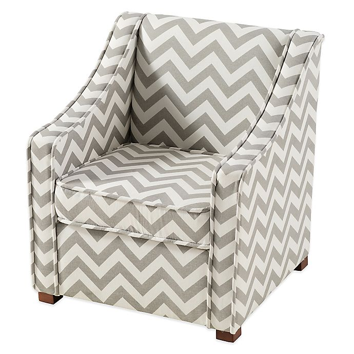 Admirable Tree House Lane Chevron Chair In Grey White Spiritservingveterans Wood Chair Design Ideas Spiritservingveteransorg