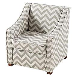 Tree House Lane Chevron Chair in Grey/White