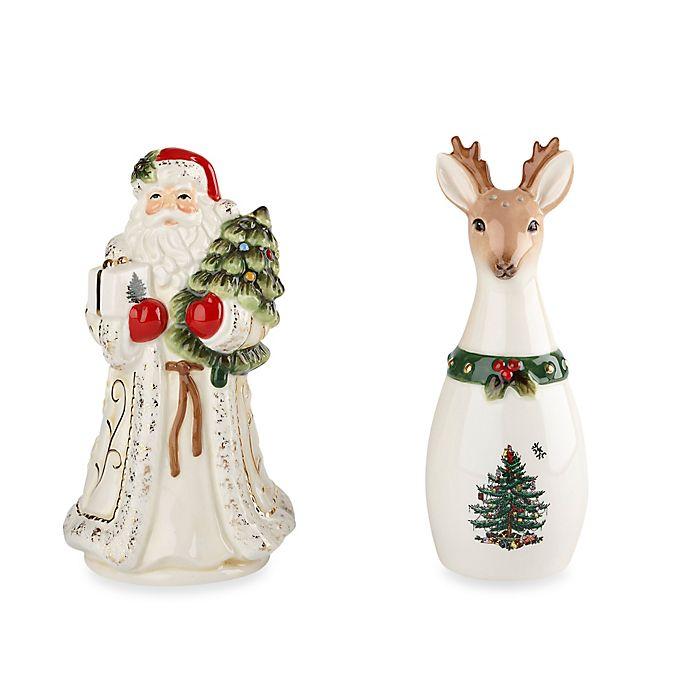 Spode Christmas Tree Sale: Spode® Christmas Tree Gold Santa And Reindeer Salt And