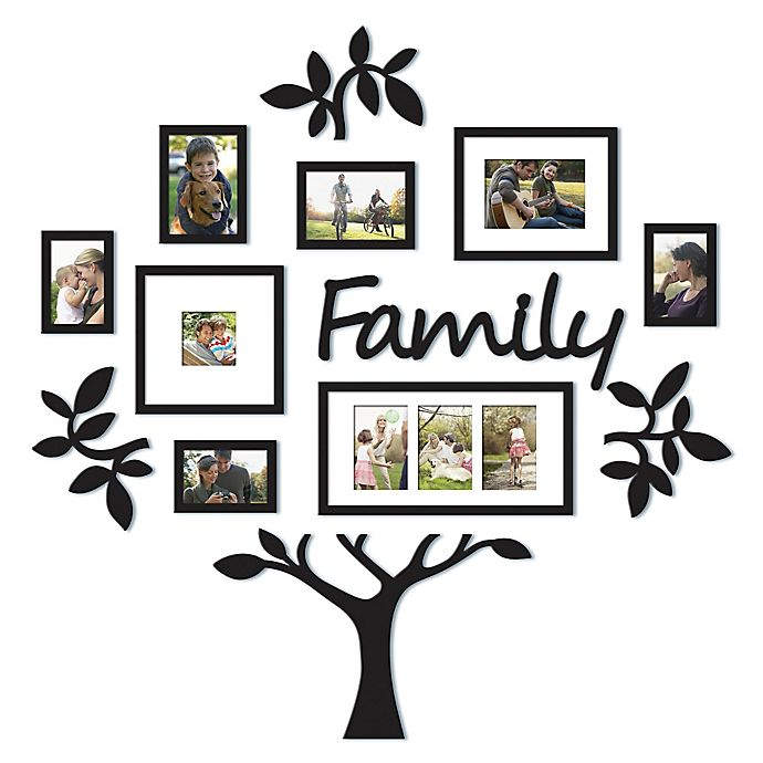 Wallverbs 13 Piece Family Tree Set In Black Bed Bath Beyond
