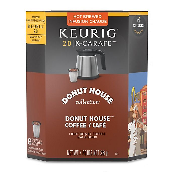Alternate image 1 for Keurig® K-Carafe™ Pack 8-Count Donut House Collection® Medium Roast Coffee