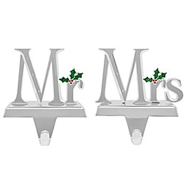 Crystals from Swarovski® Harvey Lewis™ Mr. and Mrs. Christmas Stocking Hanger