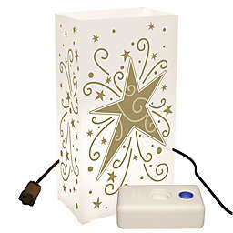 Electric Luminaria Kit with 10-Count Gold Star LumaBase Lanterns