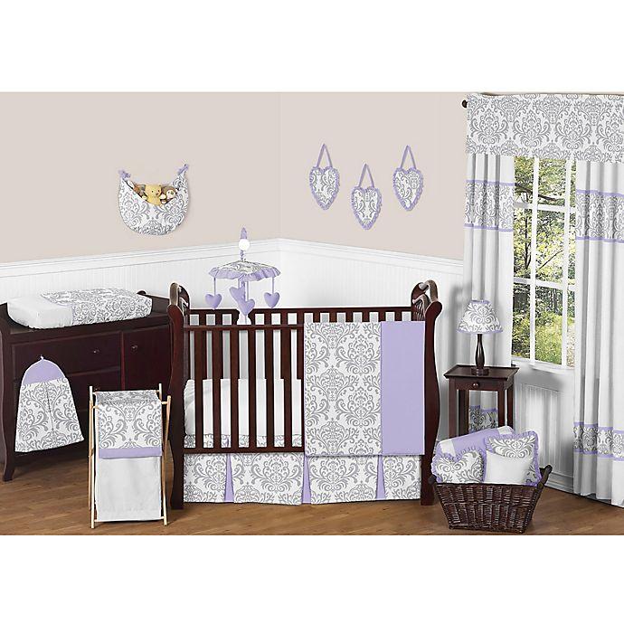 Sweet Jojo Designs Elizabeth Crib, Grey And Purple Crib Bedding