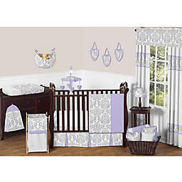 Sweet Jojo Designs Elizabeth Crib Bedding Collection in Lavender/Grey