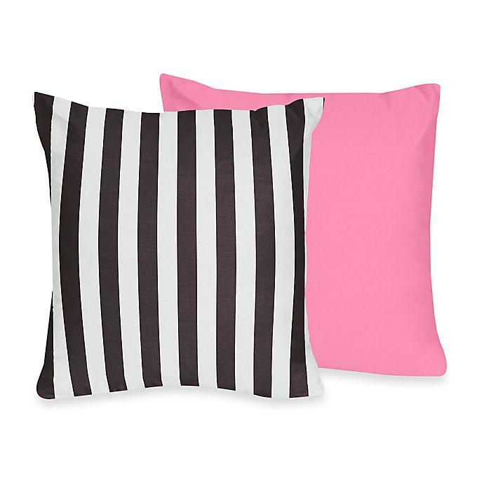 Alternate image 1 for Sweet Jojo Designs Paris Reversible Throw Pillow