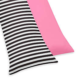 Sweet Jojo Designs Paris Reversible Body Pillowcase