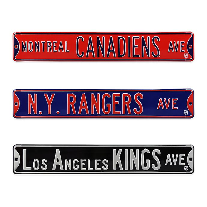 Alternate image 1 for NHL Steel Street Sign Collection