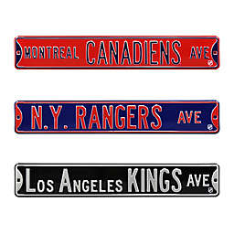 NHL Steel Street Sign