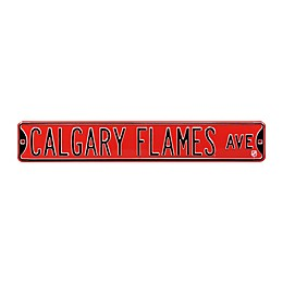 NHL Calgary Flames Steel Street Sign
