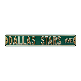 NHL Dallas Stars Steel Street Sign