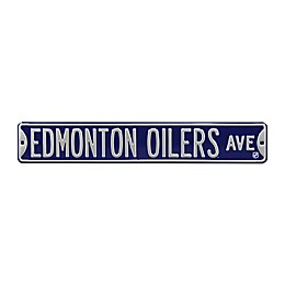 NHL Edmonton Oilers Steel Street Sign