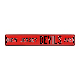 NHL New Jersey Devils Steel Street Sign