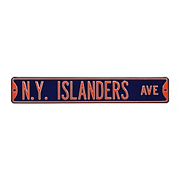 NHL New York Islanders Steel Street Sign