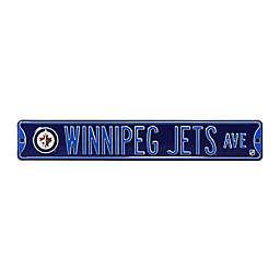 NHL Winnipeg Jets Steel Street Sign