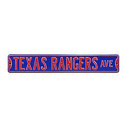 MLB Texas Rangers Steel Street Sign